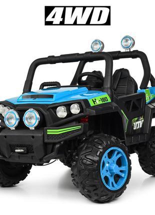 Детский электромобиль bambi racer джип m 3825 eblr-4 четырехмоторный нагрузка 30 кг (1100182)