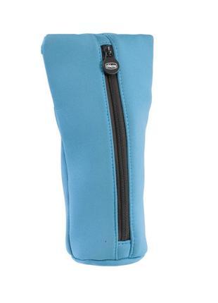 Чехол для бутылочек с термопокрытием синий chicco