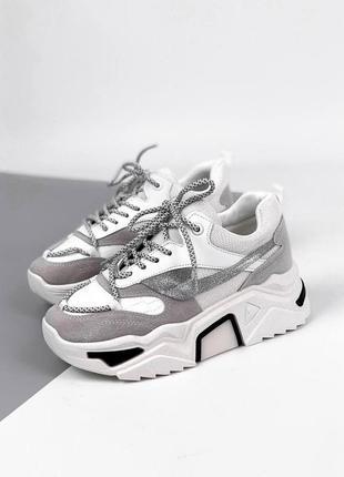 Крутые кроссовки на толстой подошве 🔝