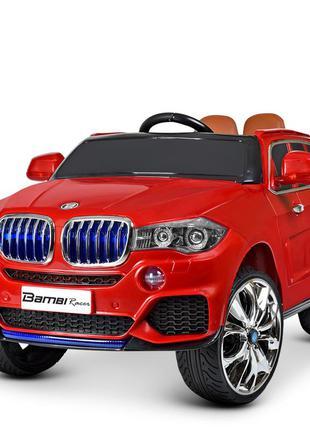 Детский электромобиль bambi racer джип m 2762(mp4)eblr-3 bmw красный, 2 мотора, usb(1100187)