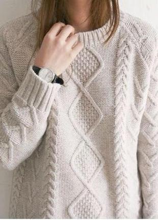 Хіт сезону🔥 білий в'язаний светер свитер