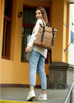 Женский стильный рюкзак тканевый