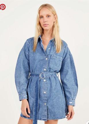 Джинсовое платье джинсова сукня джинсове плаття рубашка куртка деним
