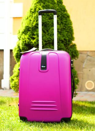 🔥качество! чемодан пластиковый средний валіза середня пластикова доставка бесплатно