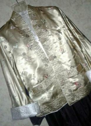 Шикарная куртка  жакет атлас сатин двухсторонняя
