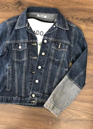 Джинсовый жакет, куртка, пиджак два цвета рм
