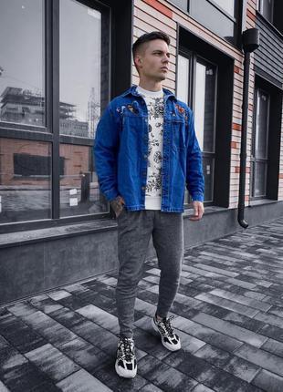 Пиджак джинсовка