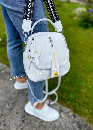 Женский кожаный рюкзак. женская кожаная сумка. polina&eiterou.