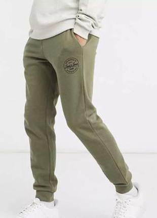 Утепленные спортивные штаны, утеплены штани на флісі jack&jones