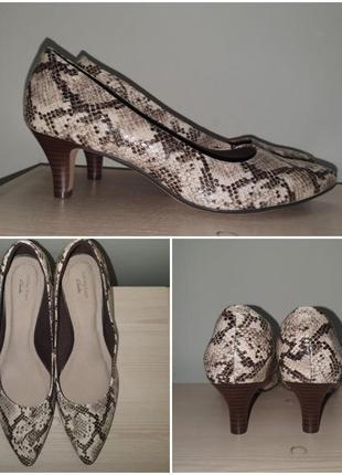 Лодочки 43 р питон туфли принт рептилия