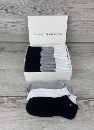 Набор мужских носков tommy hilfiger, томми хилфигер, томи, тм 30 пар в подарочной упаковке, брендовы