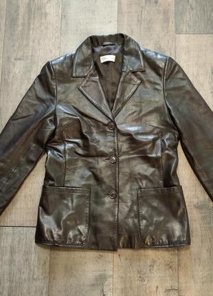 Фирменная кожаная куртка creation sprung freres paris