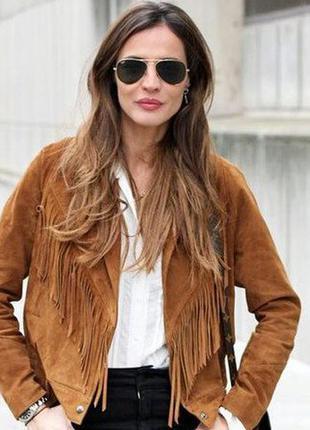 Куртка с бахромой от bershka