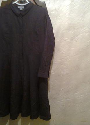 Стильное платье -рубаха теплое дорогого бренда cos. шерсть 50% и кашемир