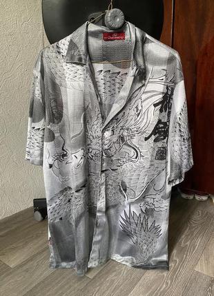 Рубашка сеточка китайский дракон