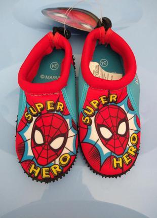 Аквашузи для хлопчиків marvel spider-man 24, 30, 34 розмір
