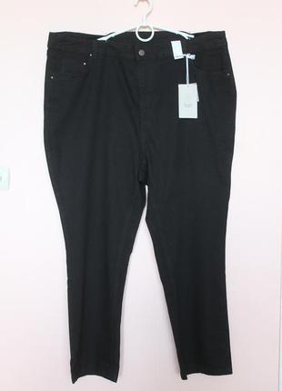 Чёрные джинсы, джинси, брюки, штаны мега батал, очень большой размер 62-64 р.