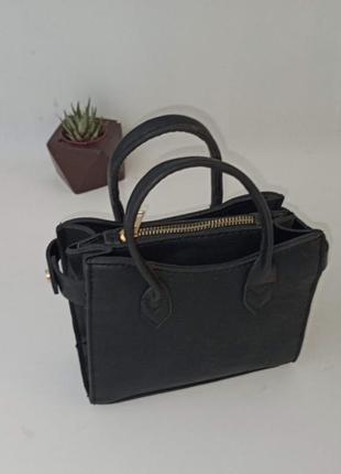 Мини сумочка с 3 отделениями, длинный ремешок в наличии
