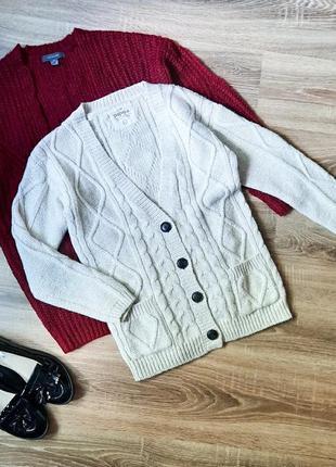 Вязаный кардиган джемпер свитер