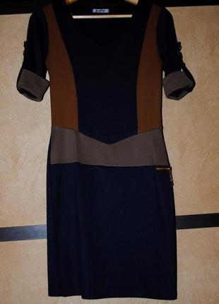 Нарядное повседневное коктейльное осенние платье футляр в обтяжку под трикотаж весенние