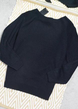 Новый оверсайз свитер с v-образным вырезом на спине new look
