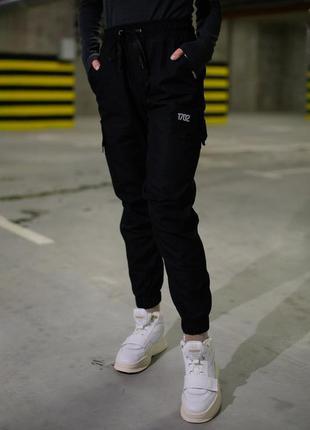 Штаны брюки карго женские черные