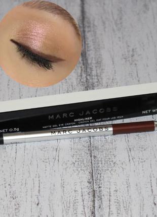Marc jacobs карандаш для глаз brown коричневый оригинал