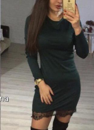 Крутое трендовое платье бутылка зелёное платьице хс с
