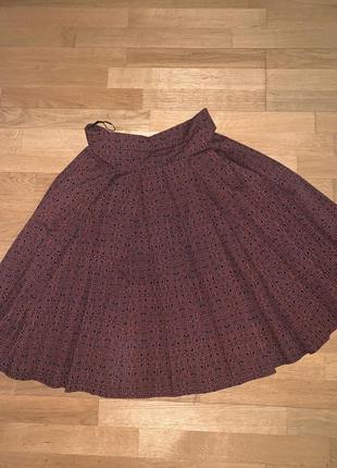 Трендовая юбка миди манго юбочка миди mango геометрия