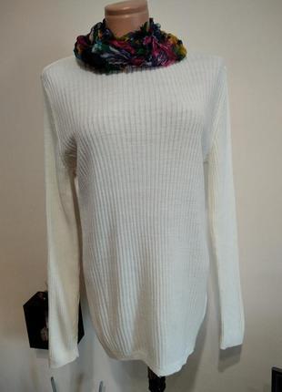 Женский молочный пуловер джемпер. турция.