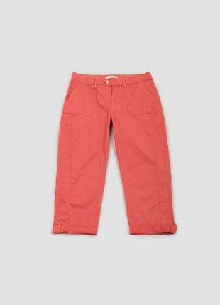 Капри розовые хлопковые с карманами camaieu