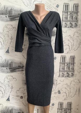 Эффектное трикотажное платье миди от max mara weekend
