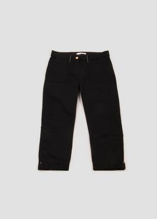 Капри чёрные хлопковые с карманами camaieu