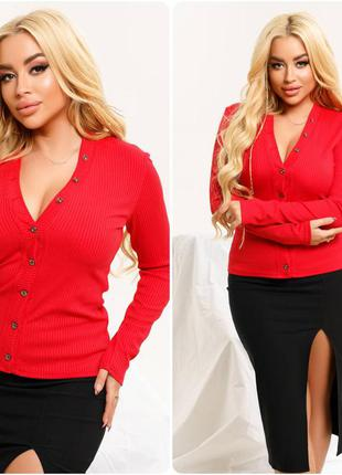 Блуза женская красная кофта