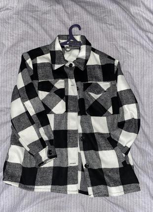 Пальто - рубашка в клетку