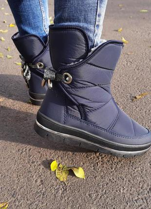 Дутики женские зимние ботинки на меху 41 уценка