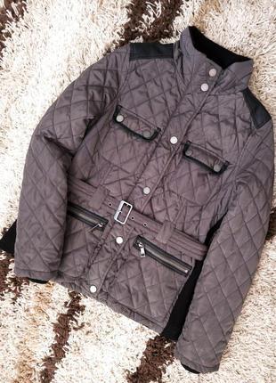 Стеганная утепленная  демисезонная куртка пальто с-м