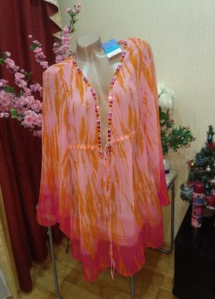 Пляжное платье накидка туника