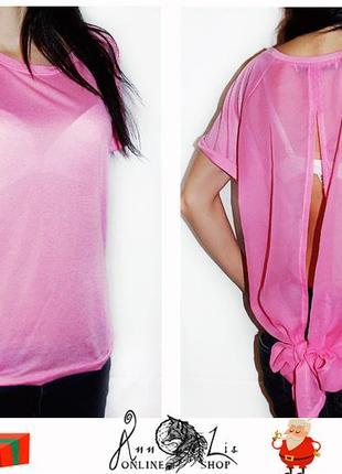 Розовая футболка/блузка atmosphere