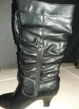 Сапоги женские осенние, черные, 36 размер.