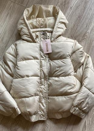 Куртка короткая на молнии дутая