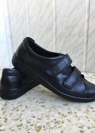 Кожные кроссовки от ecco