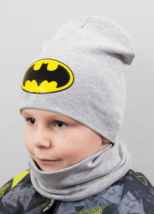 Комплект шапка и хомут бафф бетмен batman
