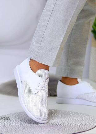 36-41 рр туфли, мокасины, кеды белые, черные с перфорацией натуральная кожа/замша