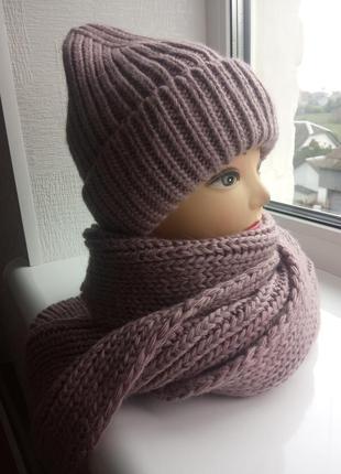 Шапка шарф снуд женские