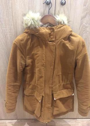 Зимняя куртка- парка со съемным мехом, р.42-44