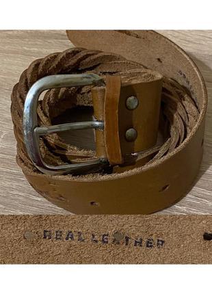 Кожаный ремень косичка