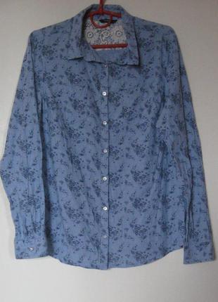 Рубашка тонкий коттон в цветочный принт