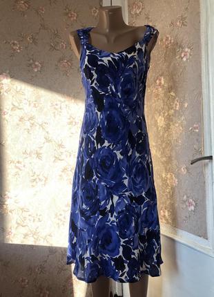 Красивое платье натуральный шёлк винтаж