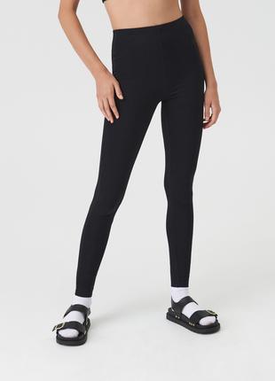 Новые тонкие тканевые облегающие черные штаны леггинсы лосины xxs s m l xl xxl